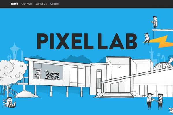 pixellab设计机构平面网站布局