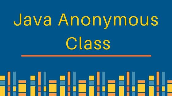 java anonymous class