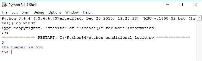 Python tutorial, python if else example