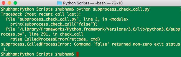 Python subprocess example check call