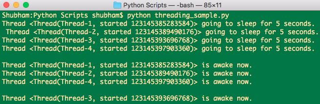 Python Threading Current Thread