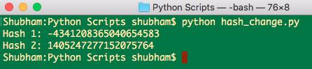 python hash int value