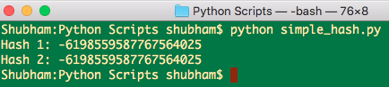 python hash string, python hash function