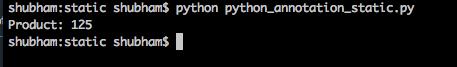 python static method annotation