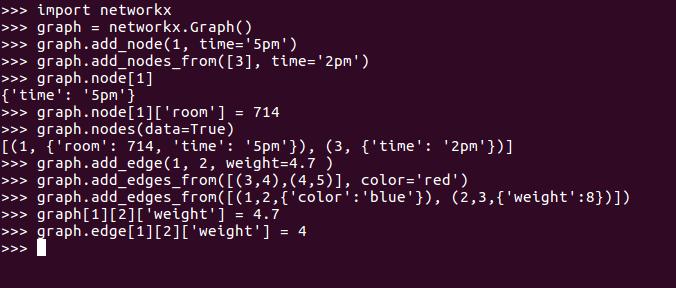 networkx graph attributes