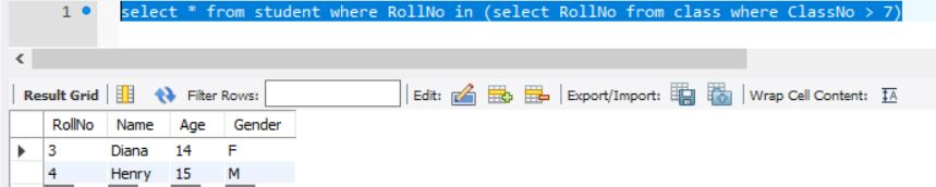 SQL Subquery with where clause