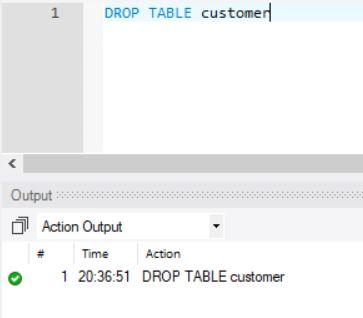 SQL DROP Table On MySQL