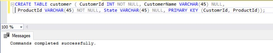 SQLServer Create Table