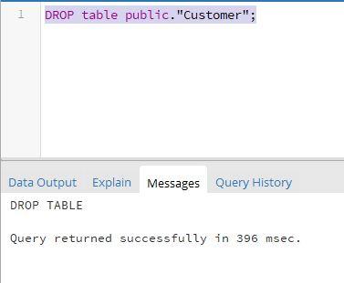 PostgreSQL DROP Table