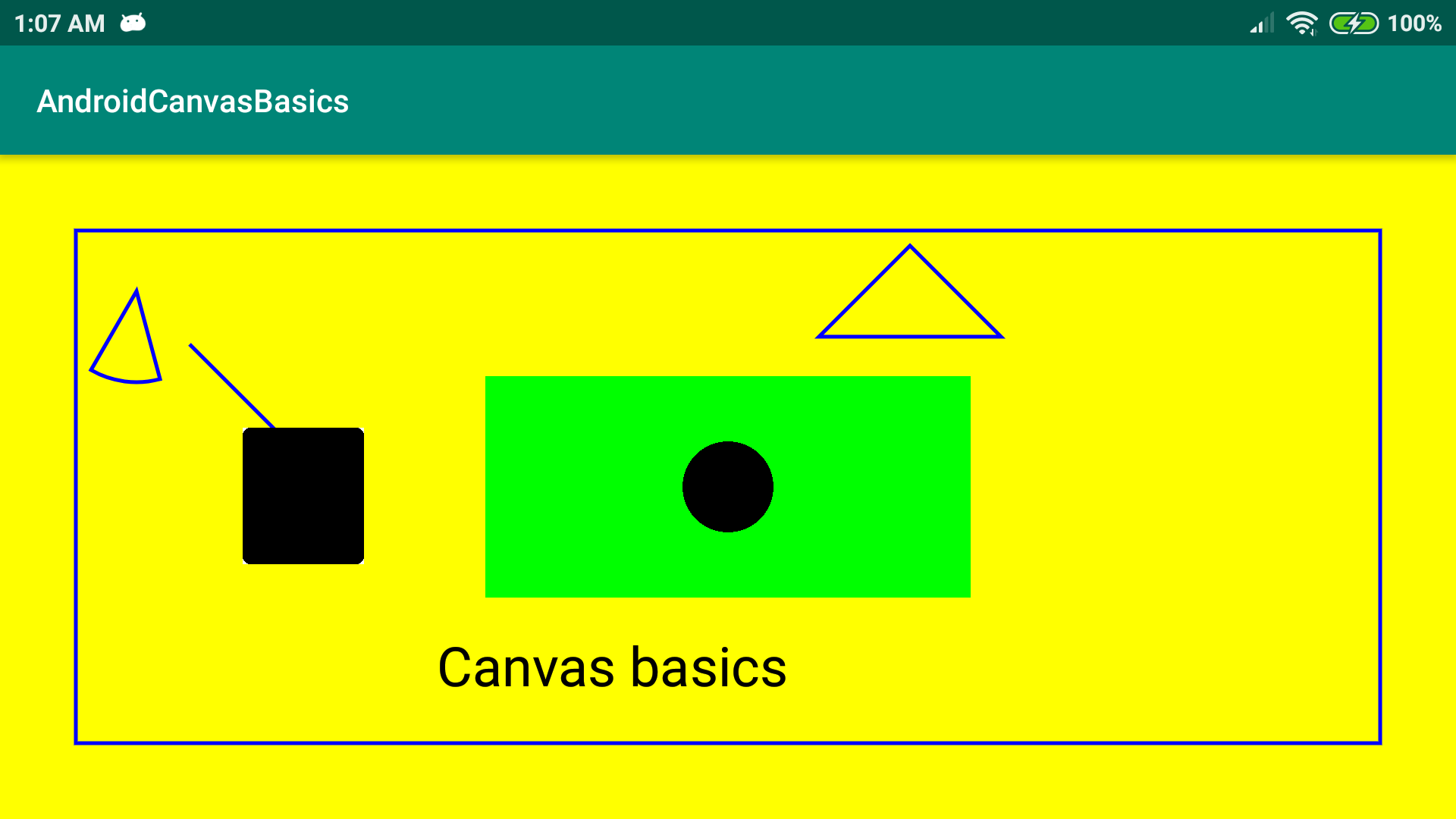 Android Canvas Basics Output 1