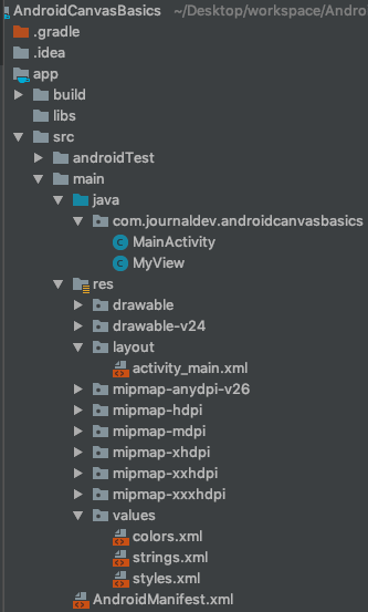 Android Canvas Basics Project
