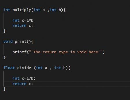Return Data Types