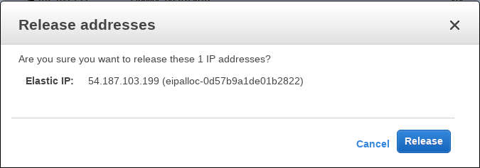 Release Elastic Ip Address