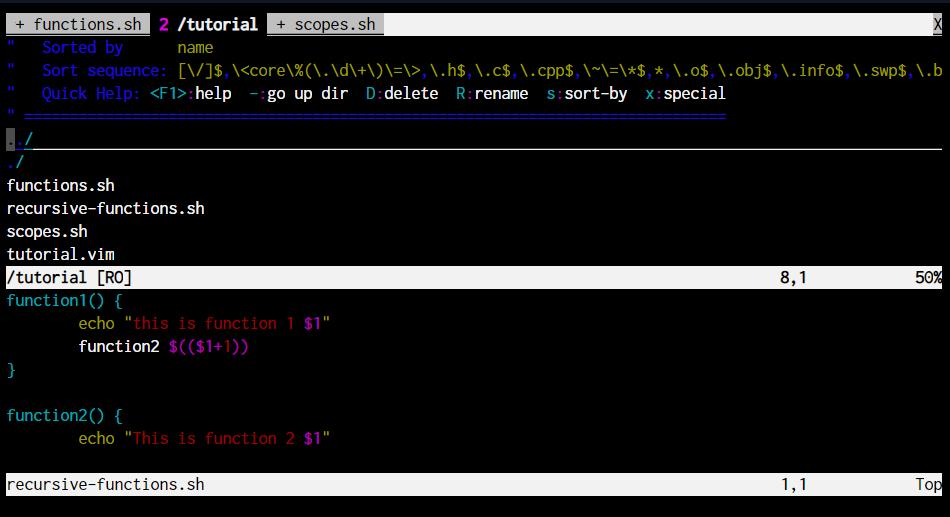 S Explore Vim linux vim commands