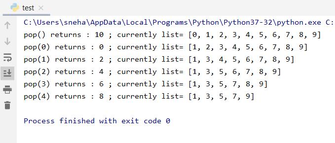 List Pop In Python