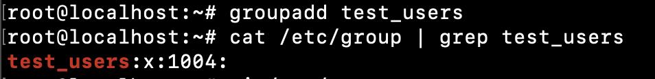 Linux Create Group