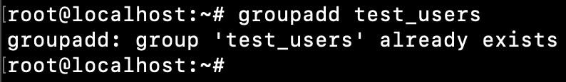 Linux Group Already Exists Error