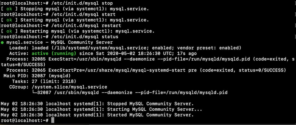 Ubuntu Init Scripts Start Stop Restart Status