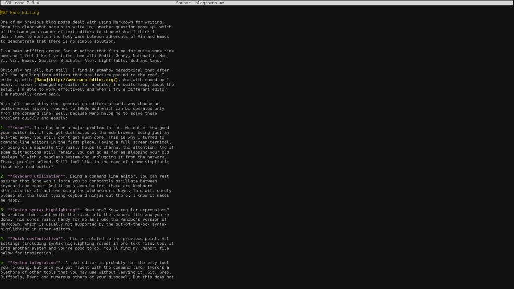 Nano Text Editor 1