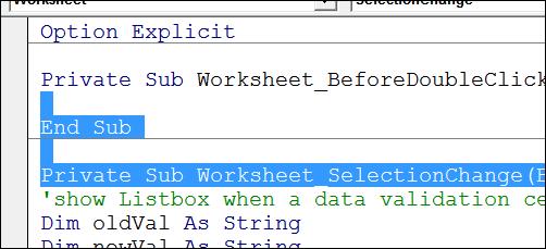 Delete lines of code http://blog.contextures.com/