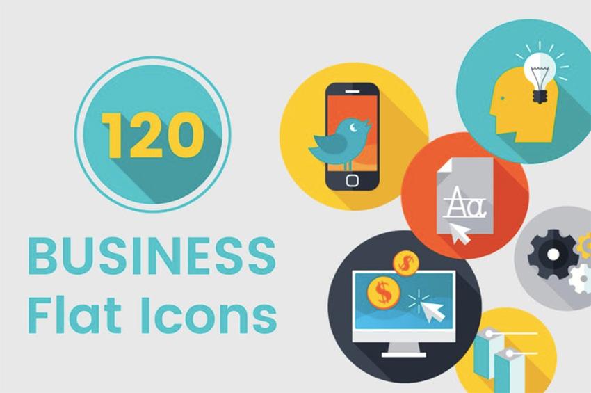 120个业务平面图标