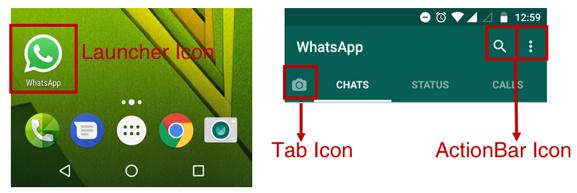 WhatsApp图标示例