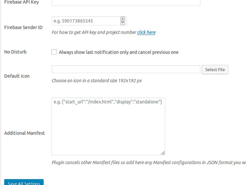 配置Firebase API密钥