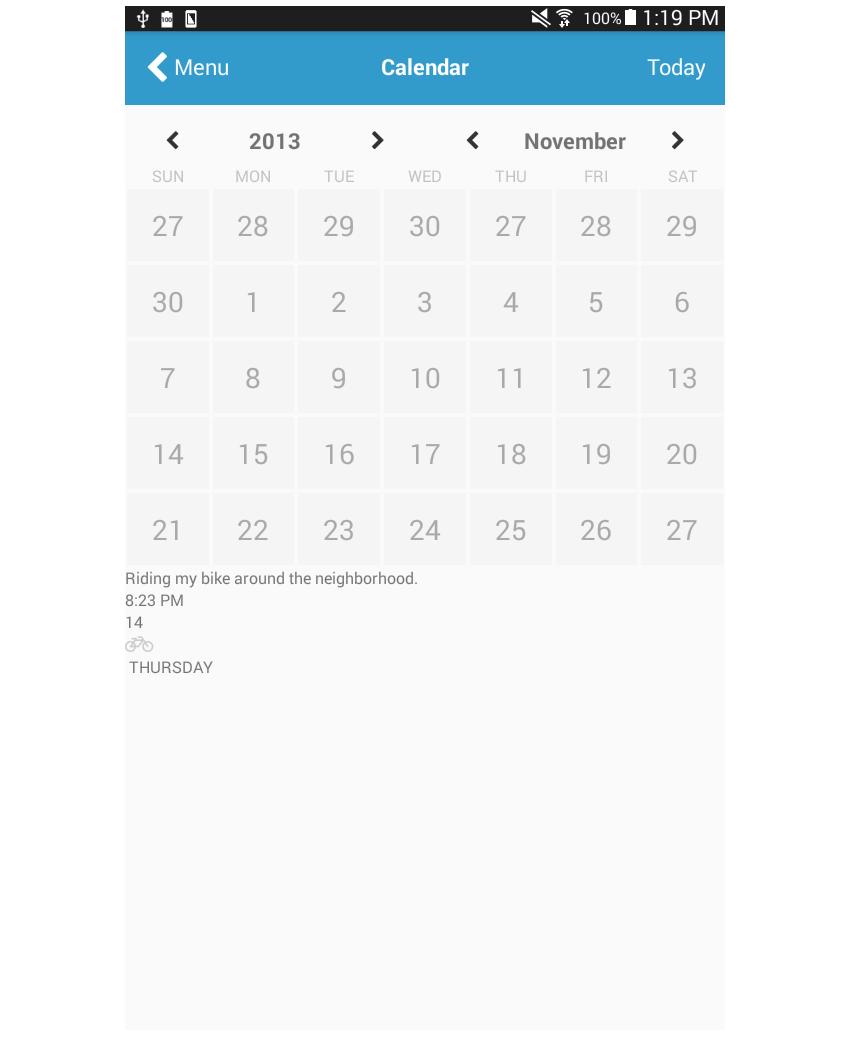 日历页面添加笔记
