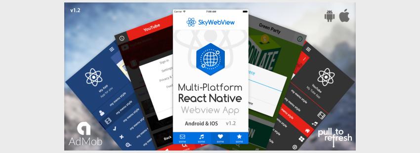 Sky WebviewAndroid and IOS React Native App