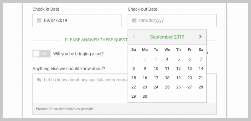 日期选择器日历UI