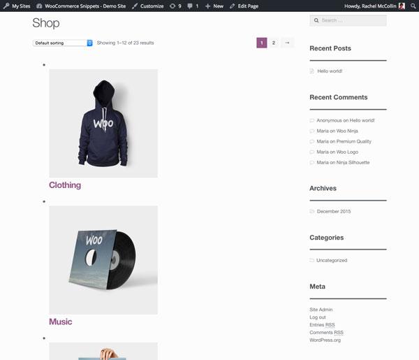 主商店页面-类别是单独的,但太大,并且带有列表样式项目符号等