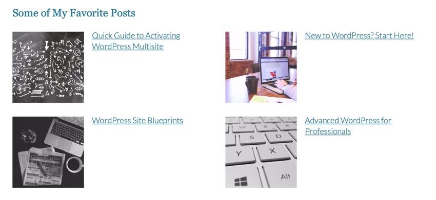 latest posts widget on live site