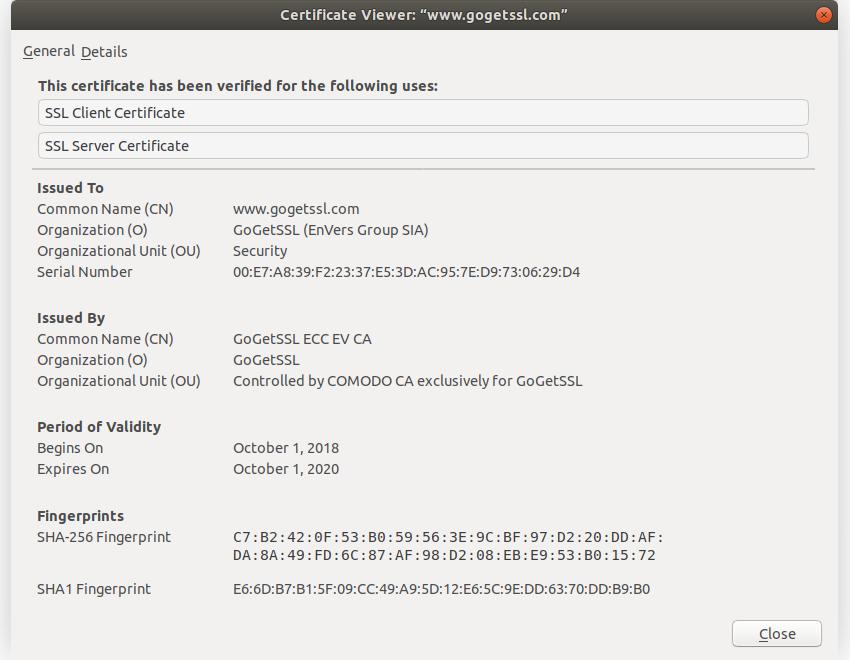 SSL凭证范例
