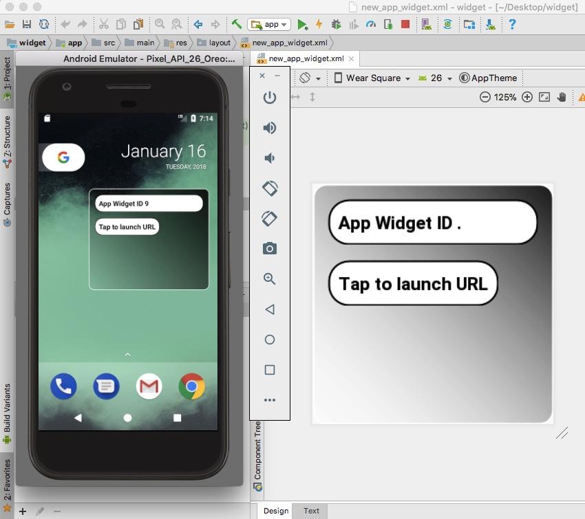 将您的Android应用程序小部件进行测试