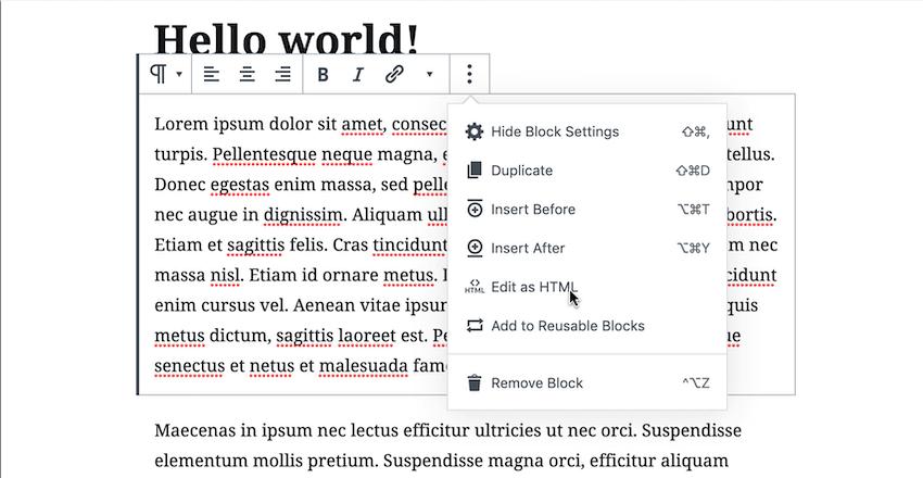 编辑您选择的页面或发布为HTML