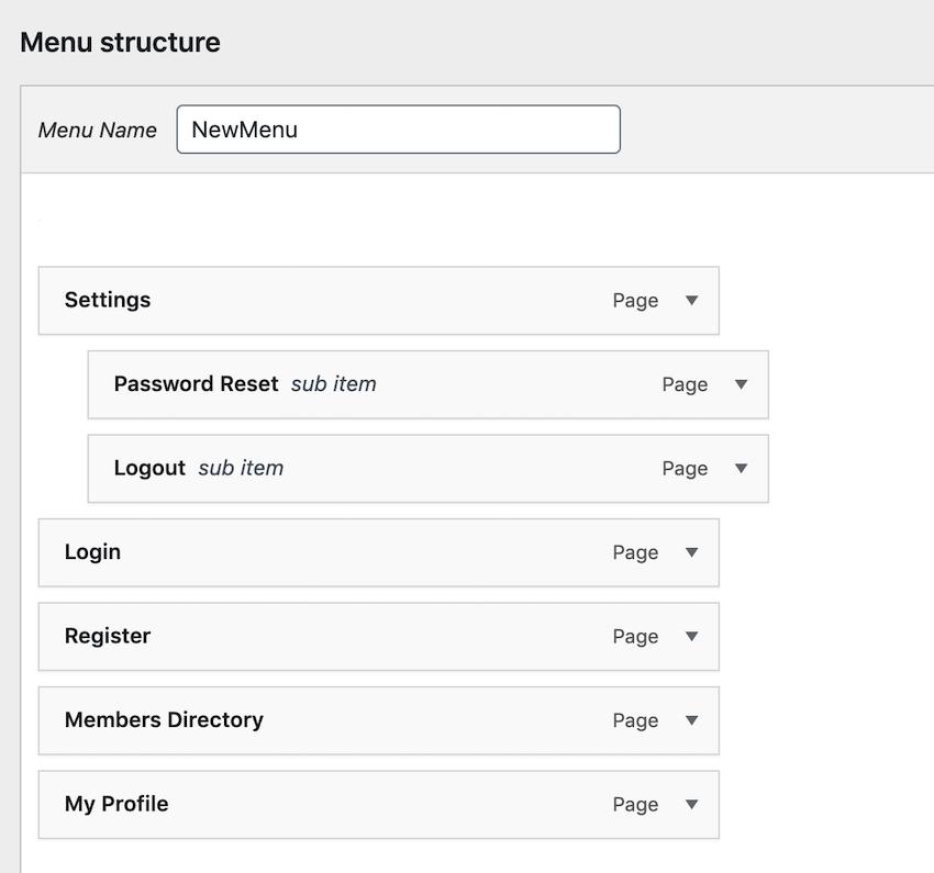 您可以使用拖放功能将任何常规菜单变成下拉菜单