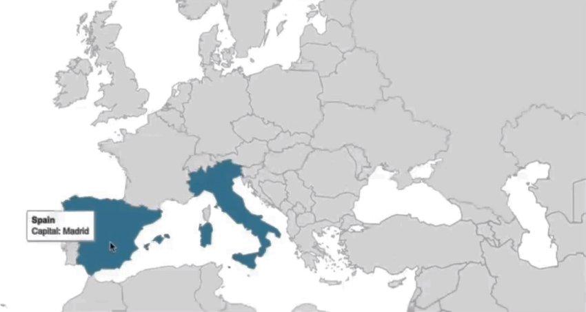 欧洲互动地图