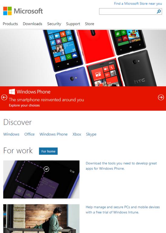 Microsoft.com超过540像素后