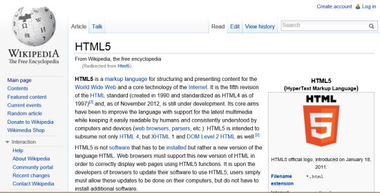 800像素宽的显示器上的Wikipedia