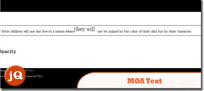 MOA文字