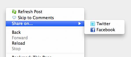 Firefox Context Menu