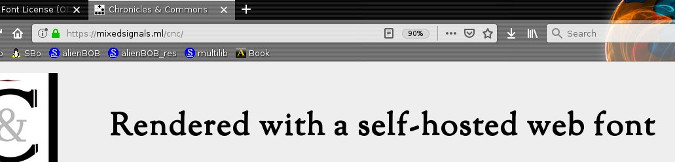 Web fonts on a website