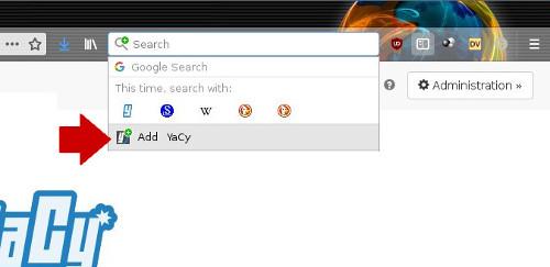 Adding YaCy to Firefox