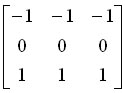 横向边缘检测算子