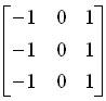 纵向边缘检测算子