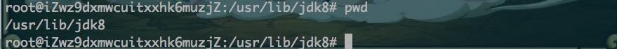 mv移动至/usr/lib/jdk8