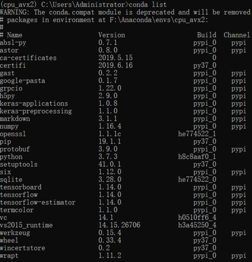 emm~解决了Tensorflow不支持AVX2指令集的问题