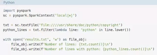 PySpark和大数据处理初探
