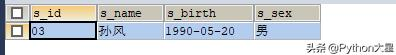 Python 之 MySql 每日一练 29——查询名字中含有风字的学生信息