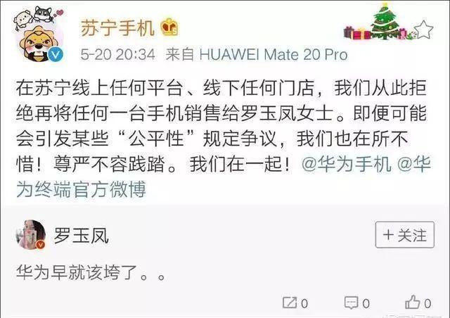 罗玉凤(凤姐)在网上评论说华为早就该垮了!大家怎么看?